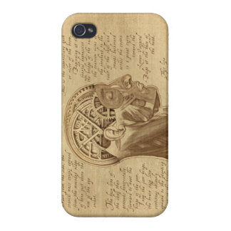 """""""Mechanically Inclined"""" Sepia Horizontal Case For iPhone 4"""