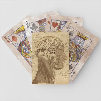 """""""Mechanically Inclined"""" Sepia Playing Cards"""