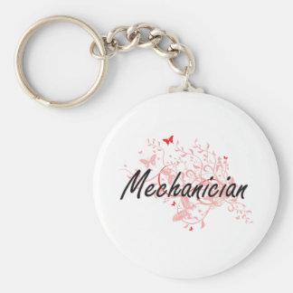 Mechanician Artistic Job Design with Butterflies Keychain
