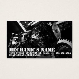 Mechanic's Business Card w/ Transmission Photo
