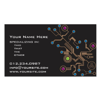 Mechanics Double-Sided Standard Business Cards (Pack Of 100)