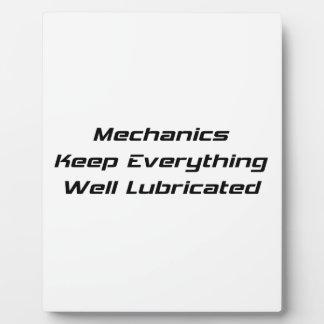 Mechanics Keep Everything Well Lubricated Photo Plaque