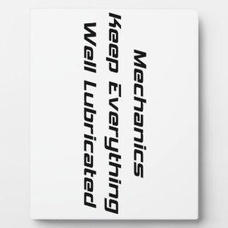 Mechanics Like Everything Well Lubricated Photo Plaques