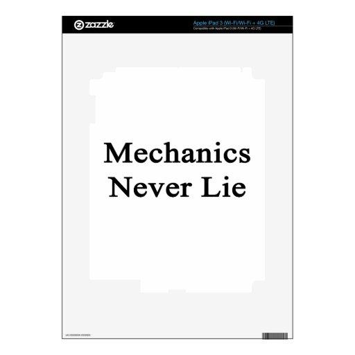 Mechanics Never Lie Decal For iPad 3