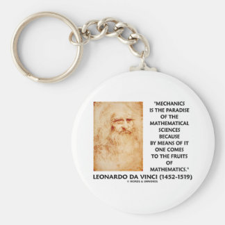 Mechanics Paradise Of Mathematical Sciences Quote Keychain