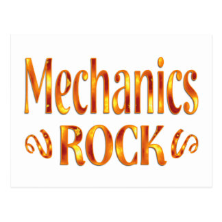 Mechanics Rock Postcard