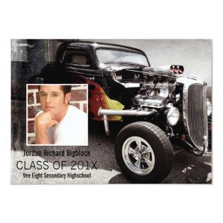 Mechanics Student V8 Emblem Photo Grad Card