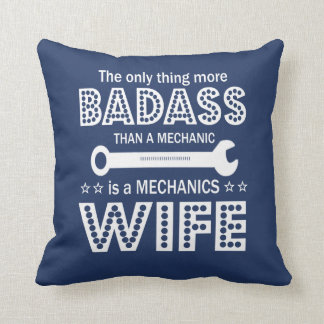 Mechanic's Wife Throw Pillow