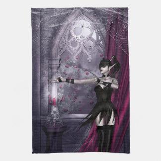Mechanika Goth Girl Kitchen Towel