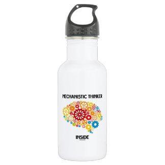 Mechanistic Thinker Inside (Brain Gears) 18oz Water Bottle