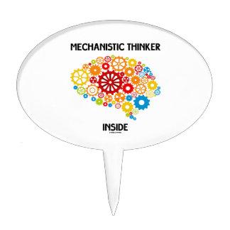 Mechanistic Thinker Inside (Brain Gears) Cake Topper