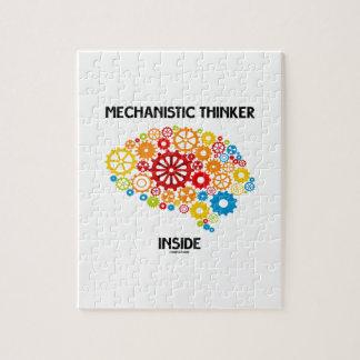 Mechanistic Thinker Inside (Brain Gears) Jigsaw Puzzle