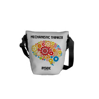 Mechanistic Thinker Inside (Brain Gears) Messenger Bags
