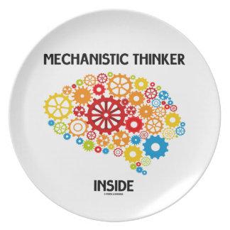 Mechanistic Thinker Inside (Brain Gears) Party Plates