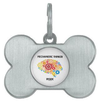 Mechanistic Thinker Inside (Brain Gears) Pet ID Tags