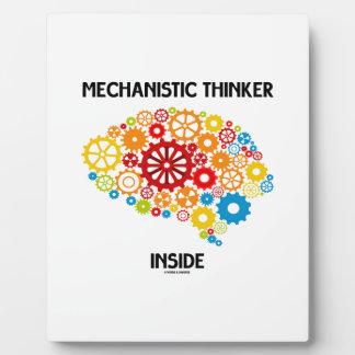 Mechanistic Thinker Inside (Brain Gears) Plaque