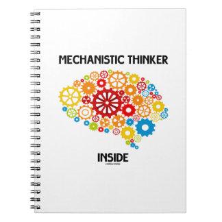 Mechanistic Thinker Inside (Brain Gears) Spiral Note Book