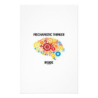 Mechanistic Thinker Inside (Brain Gears) Stationery