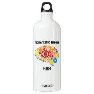 Mechanistic Thinker Inside (Brain Gears) Water Bottle
