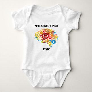 Mechanistic Thinker Inside (Gears Brain) Baby Bodysuit