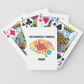 Mechanistic Thinker Inside (Gears Brain) Bicycle Playing Cards