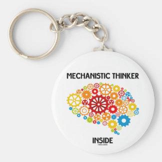 Mechanistic Thinker Inside (Gears Brain) Key Chain