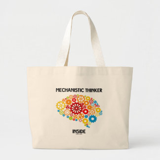 Mechanistic Thinker Inside (Gears Brain) Large Tote Bag