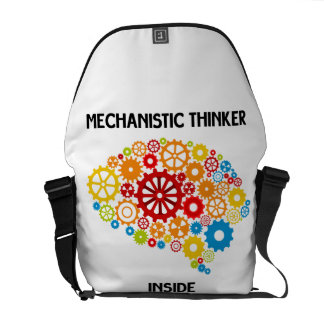 Mechanistic Thinker Inside (Gears Brain) Commuter Bag