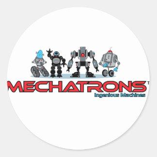 mechatrons logo classic round sticker