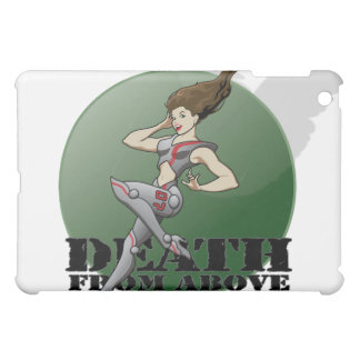 """MechCorps """"Death From Above"""" nose art iPad case"""