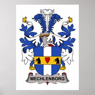 Mechlenborg Family Crest Poster