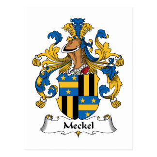 Meckel Family Crest Postcard