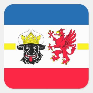 Mecklemburgo-Pomerania Occidental bandera Pegatina Cuadrada