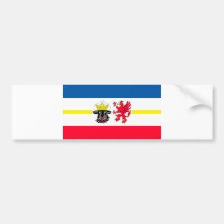 Mecklemburgo-Pomerania Occidental bandera Pegatina Para Auto