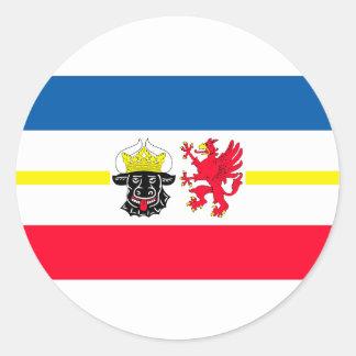 Mecklemburgo-Pomerania Occidental bandera Pegatina Redonda