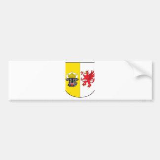 Mecklemburgo-Pomerania Occidental escudo de armas  Pegatina Para Auto