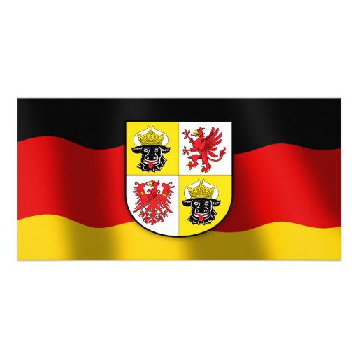 Mecklenburg-Vorpommern coat of arms Personalized Photo Card