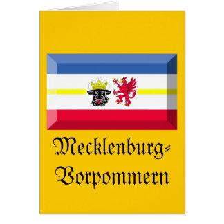 Mecklenburg-Vorpommern Flag Gem Card