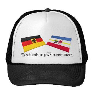 Mecklenburg-Vorpommern, Germany Flag Tiles Mesh Hat