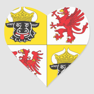 Mecklenburg-Western Pomerania coat of arms largely Heart Sticker