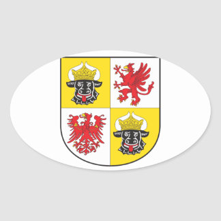 Mecklenburg-Western Pomerania coat of arms largely Oval Sticker