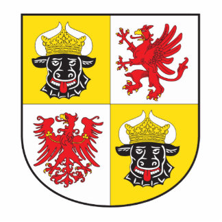Mecklenburg-Western Pomerania coat of arms largely Statuette