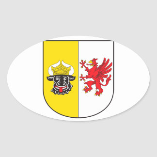 Mecklenburg-Western Pomerania coat of arms small Oval Sticker