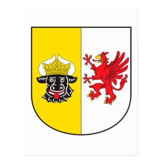 Mecklenburg-Western Pomerania coat of arms small Postcard