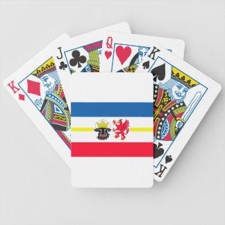 Mecklenburg-Western Pomerania flag Bicycle Playing Cards