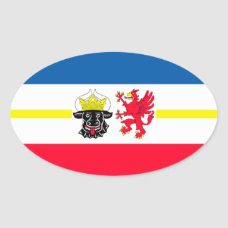 Mecklenburg-Western Pomerania flag Oval Sticker