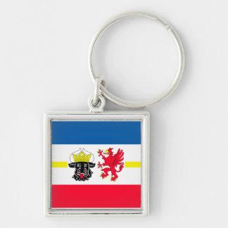 Mecklenburg-Western Pomerania flag Silver-Colored Square Keychain