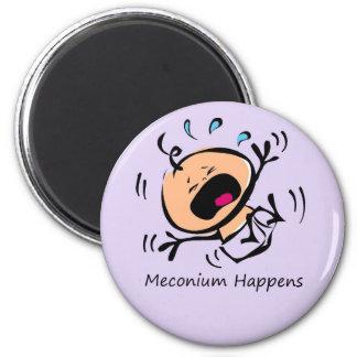 Meconium sucede imán de frigorifico