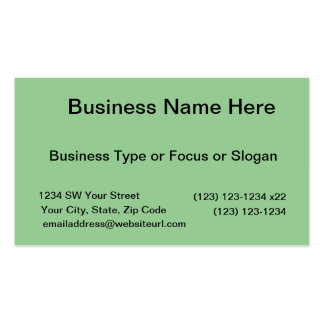 med green DIY custom background template Business Card