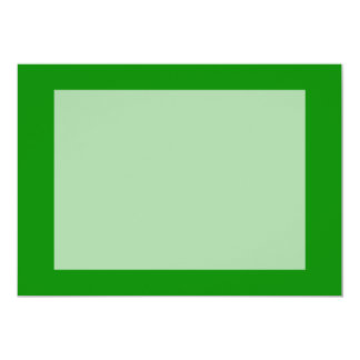 med green DIY custom background template 5x7 Paper Invitation Card